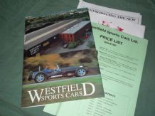 WESTFIELD SPORTS CARS (inc. Seight. Brochure and price list pack early 90s)